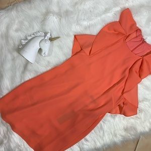 bcbgmaxazria coral dress NWT